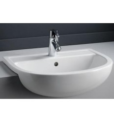 Compact 550mm Semi Recess Basin