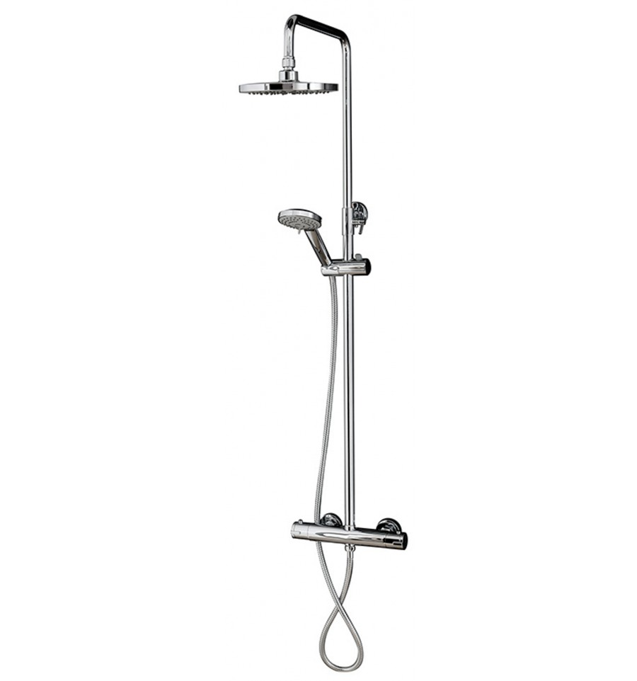 Fastini Deana Round Thermostatic Shower Valve Dual Head