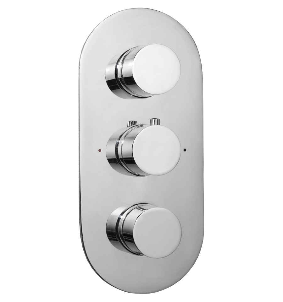 Aqualla Luca Concealed Shower Valve Triple Two Outlet