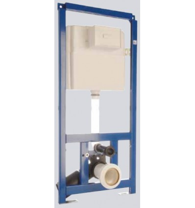 Multikwik Wall-Hung Frame 820mm, Comes With Cistern & 3/6 L Eclipse Control Plate (TRF0427E)