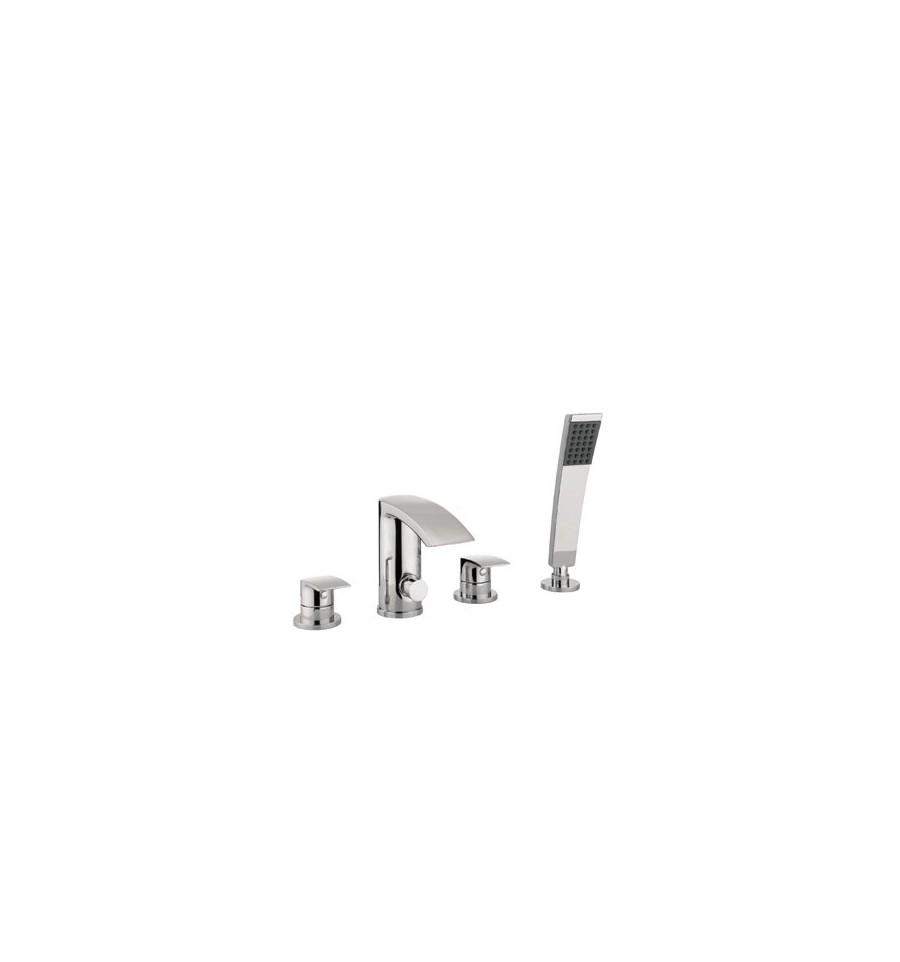 Adora Flow Bath Shower Mixer 4-Hole Set
