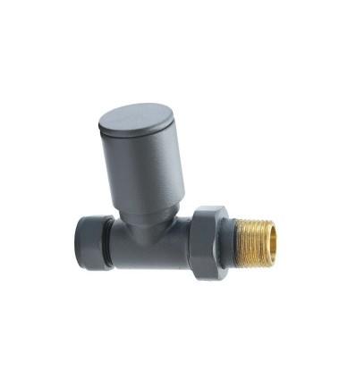 aqualla round straight radiator valves anthracite. Black Bedroom Furniture Sets. Home Design Ideas