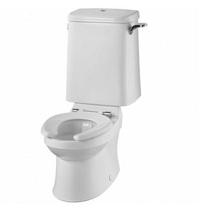 Sola School Rimless 300 Close Coupled Toilet Pan,
