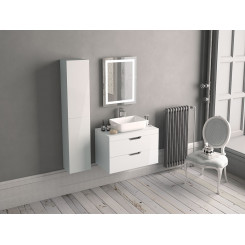 Madison 600mm 2 Drawer Wall Unit with worktop and Vespa Freestanding Basin