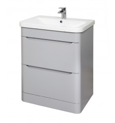 Eve 600mm Floor Standing Unit White Elm & 605mm Eve Basin