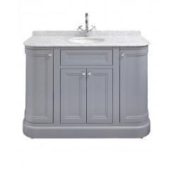 Merrion 1200mm Vanity Unit Slate Grey with Marble Worktop & Under-counter Basin