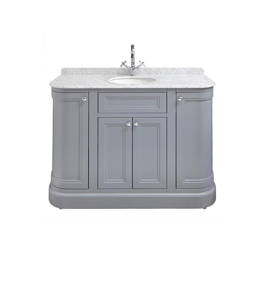Merrion 1200mm Vanity Unit Slate Grey With Marble Worktop
