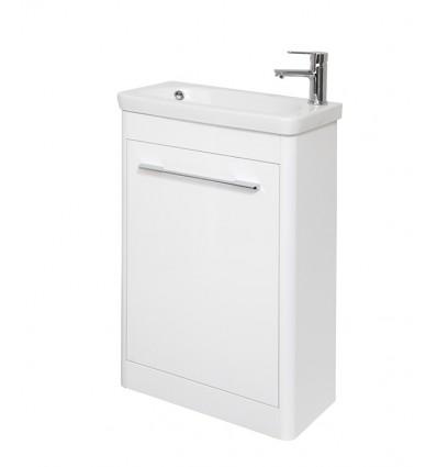 Piccolla 500mm Floor Unit White & Basin