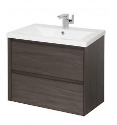 Urbino 2 Drawer 600mm Wall Hung Unit Driftwood & Basin