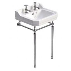 Sonas Westbury 550mm Basin and Chrome Washstand 2 Tap Hole