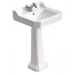 Sonas Westbury 55 cm Basin and Full Pedestal 1 Tap Hole