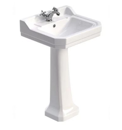 Sonas Westbury 61 cm Basin and Full Pedestal 1 Tap Hole