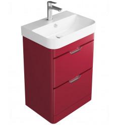 SONAS Sott' Aqua Gloss Red Floor Standing 48 Vanity Unit - 2 Drawer Code SAFS2DR48RD