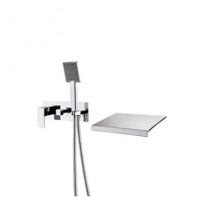 STUDIO Valetta Wall Mounted Bath Filler - Chrome