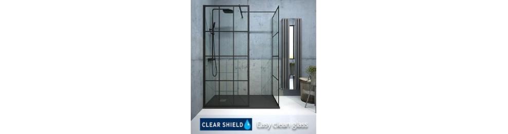 Aspect Black Trellis Wetroom